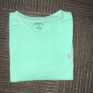 Light green polo tee shirt. Great condition.